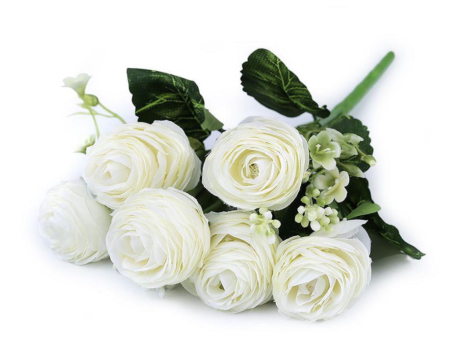 Umělá kytice pryskyřník 1 ks