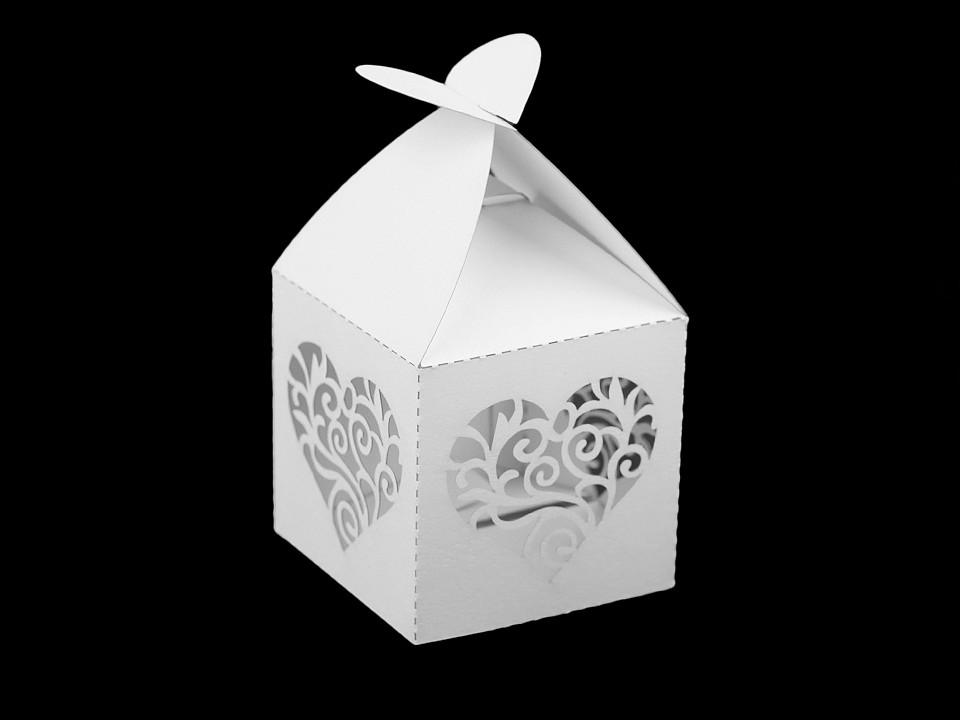 Papírová krabička svatební 10 ks