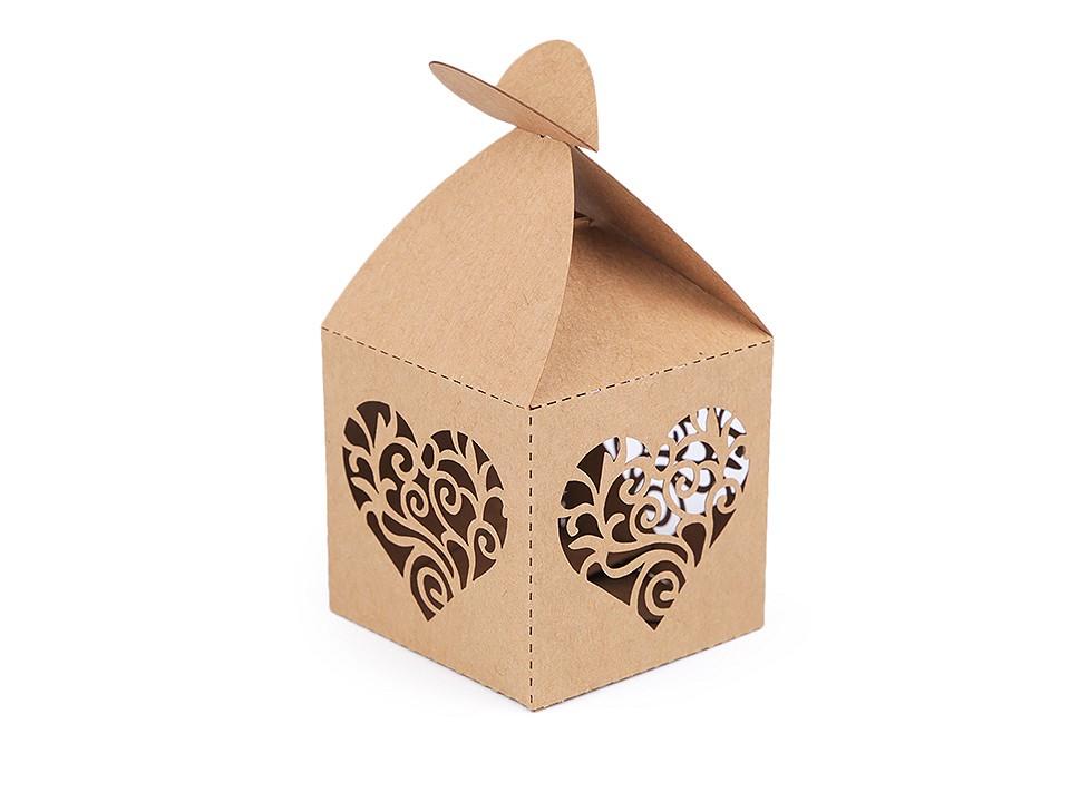 Papírová krabička natural 10 ks