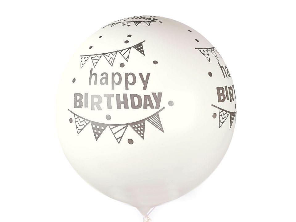 Nafukovací párty balónek velký Happy Birthday 20 ks