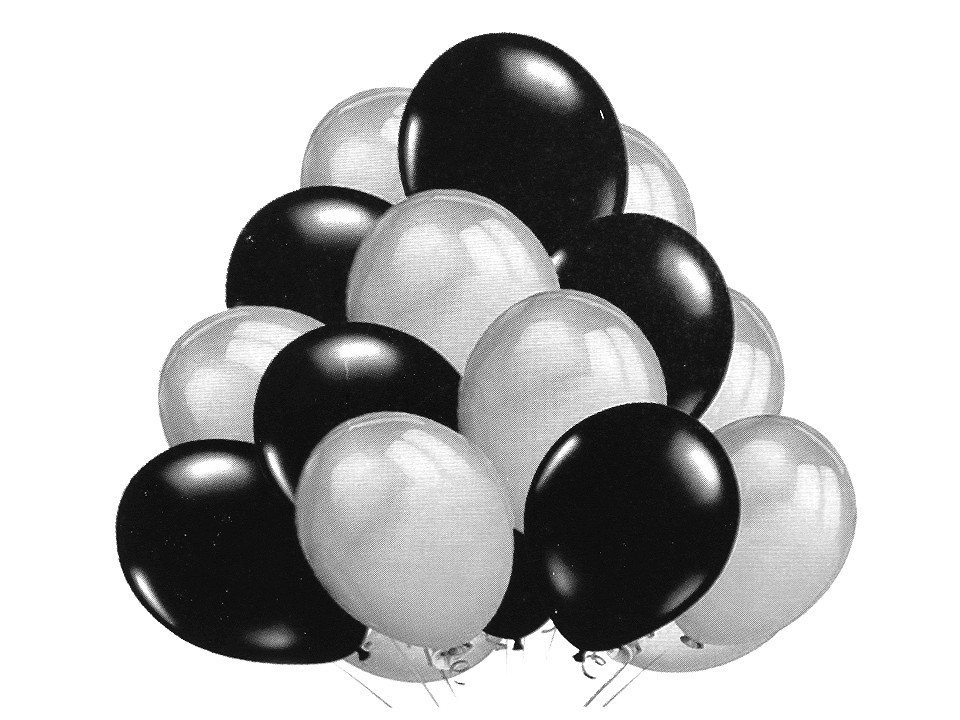 Nafukovací balónky metalické sada 10 ks