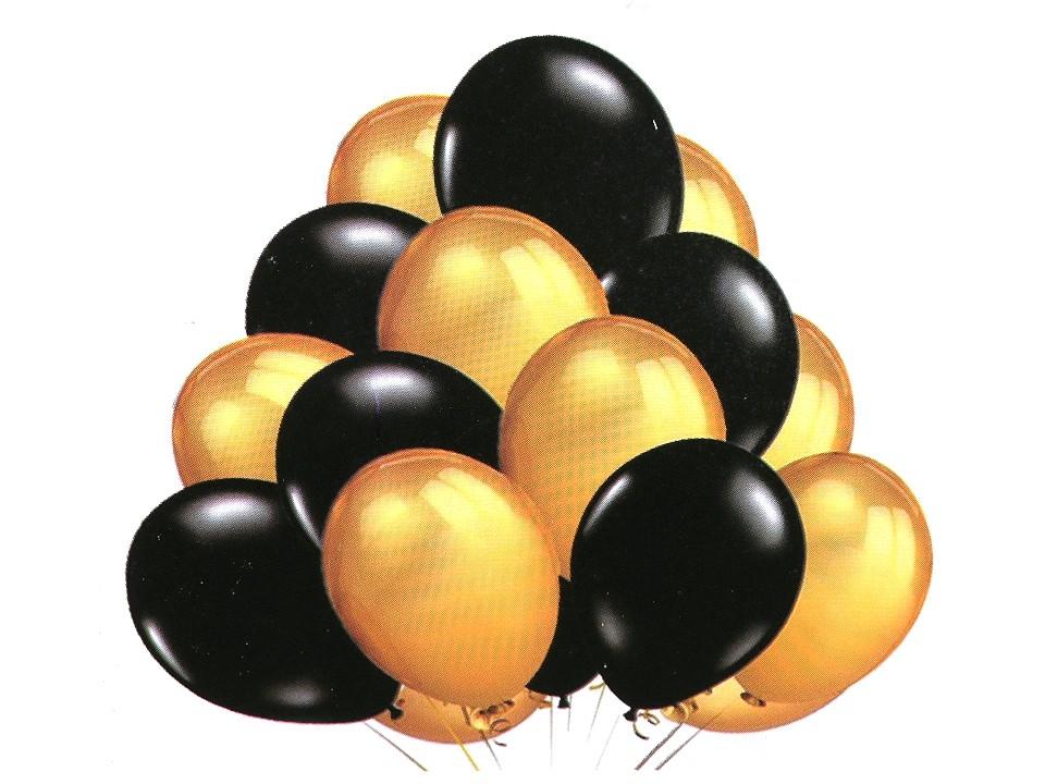Nafukovací balónky metalické sada 1 ks