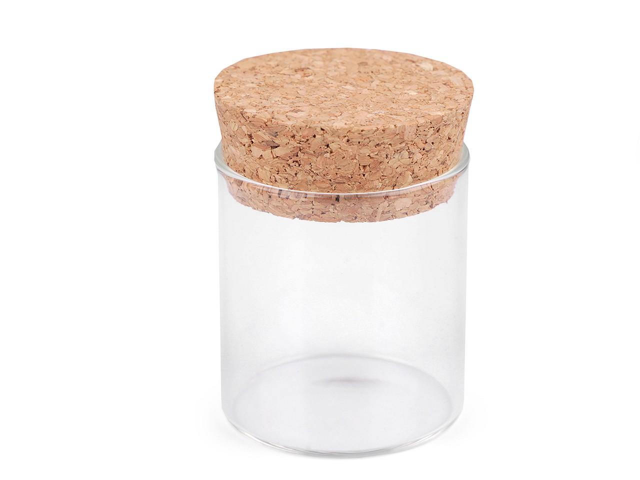 Skleněná lahvička s korkem 45x50 mm 1 ks