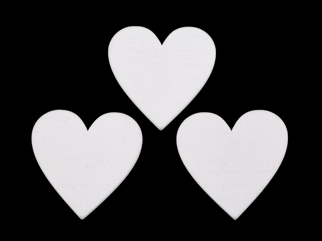 Dřevěná dekorace srdce 20 ks