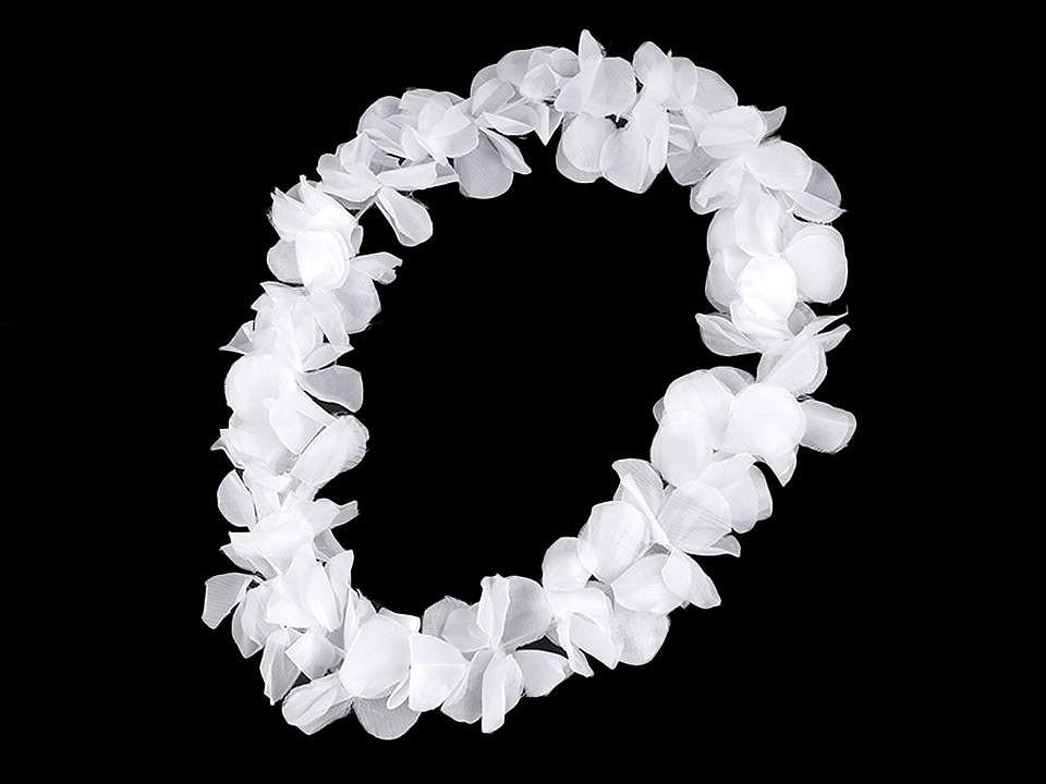 Havajský věnec s květy 1 ks