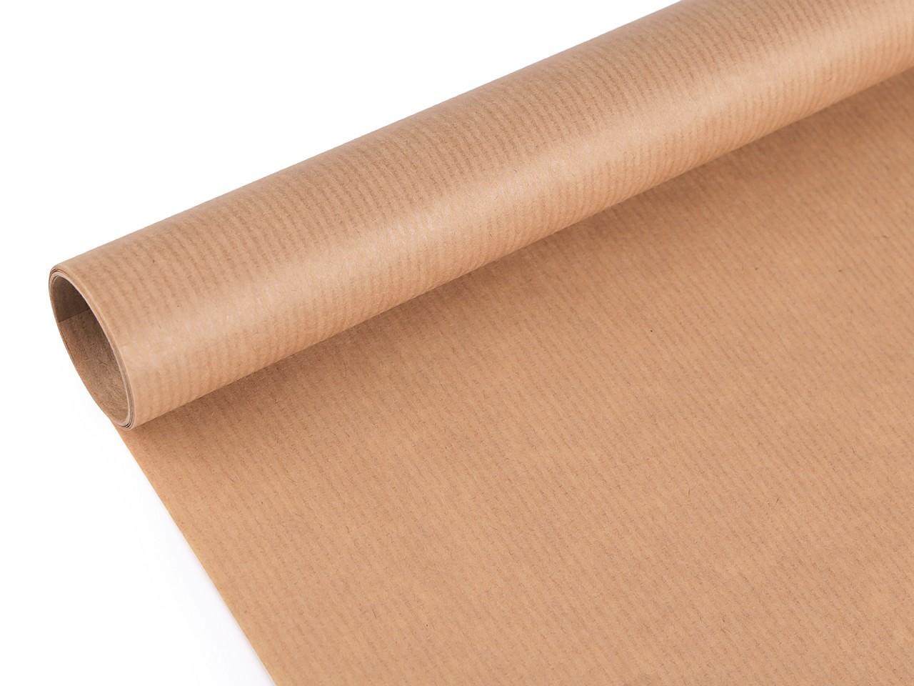 Balicí papír přírodní 0,7x2 m 1 ks