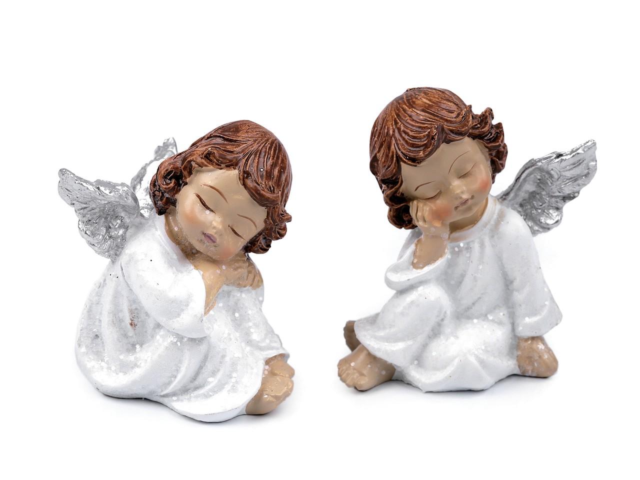 Dekorace anděl 6 ks
