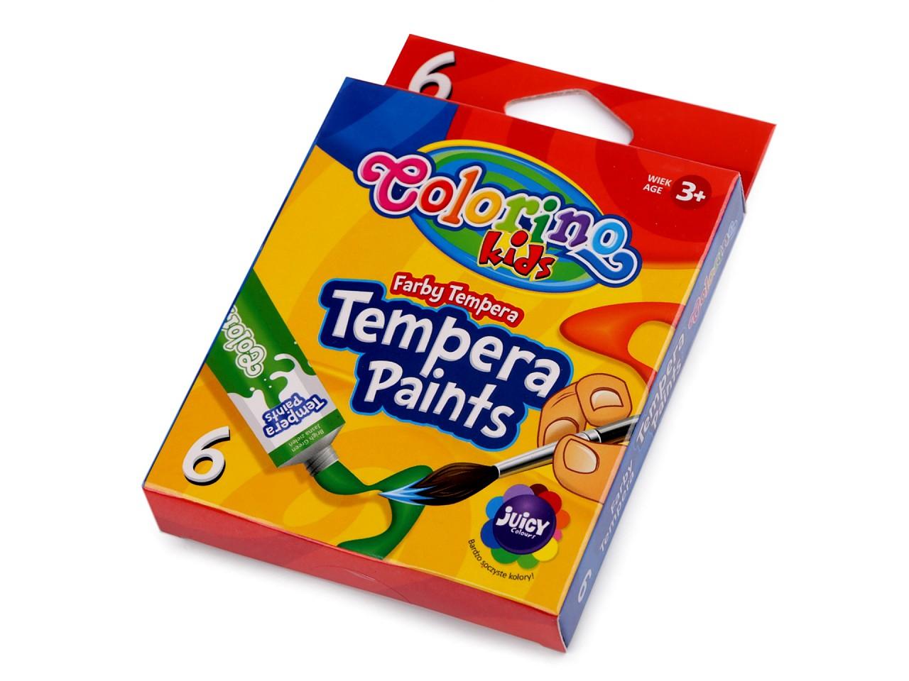 Temperové barvy 6 ks 1 ks