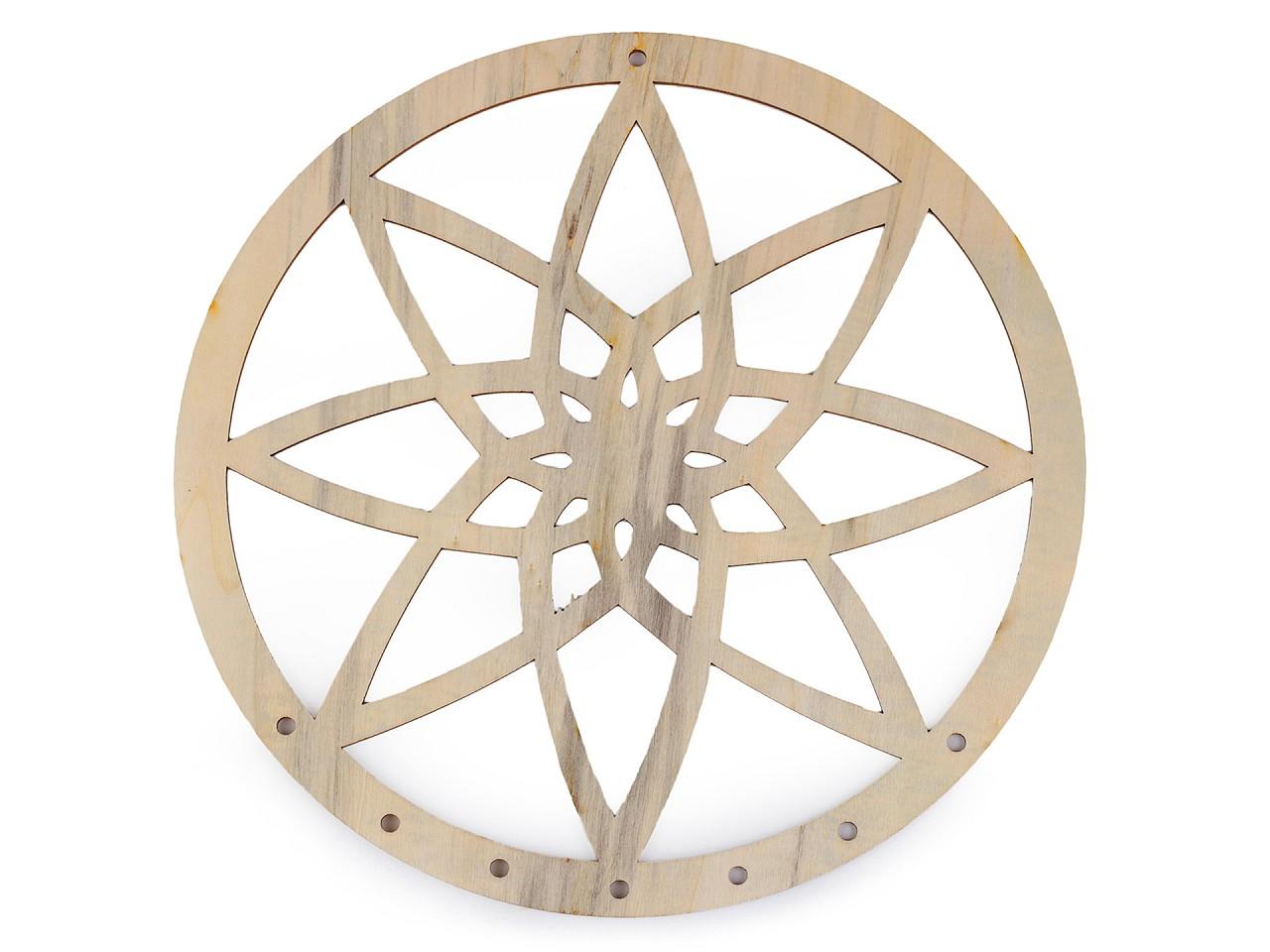 Dřevěný kruh na lapač snů mandala k domalování Ø25 cm 2. jakost 1 ks