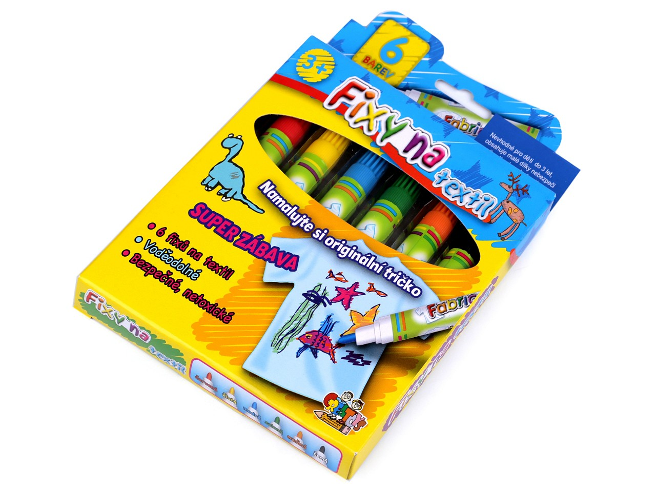 Fixy na textil 6 ks 1 ks