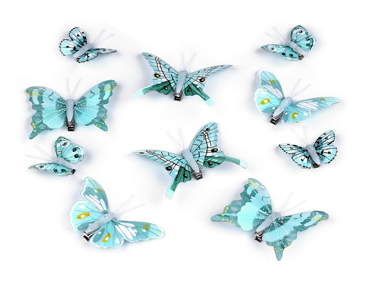 Dekorace motýl 3D s klipem 10 ks
