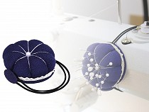 Pincushion with elastic for sewing machine