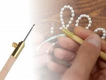 Aari Needle - handle and 3 needles with hooks
