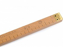 Wooden Ruler with European calibre