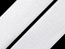 Klettverschluss Haken + Plüsch Breite 10 mm weiß