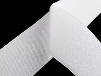 Suchý zip háček + plyš šíře 10 cm bílý