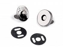 Magnetischer Taschenverschluss Ø14 mm Nickel Antik