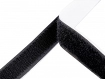 Taśma rzep samoprzylepna komplet (haczyk+pętelka) szerokość 20 mm czarna