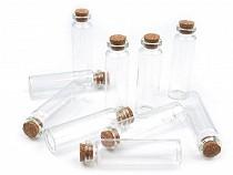 Buteleczka szklana z korkiem 20x75 mm