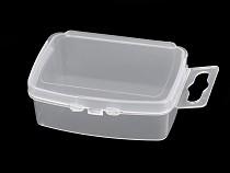 Plastový box / zásobník 3,5x5x2 cm s eurozávěsem