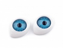 Oval Plastic Doll Eyes 12x17mm height 6mm