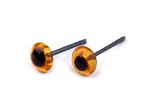 Glass Round Eyes on wire Ø4-5 mm
