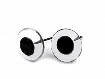 Glass Round Eyes on wire Ø13-16 mm
