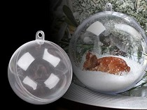Clear Plastic Ball Ornament Ø6 cm
