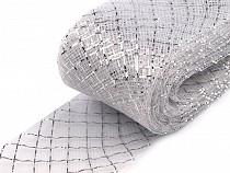 Krynolina modniarska do usztywnienia sukienek i wyrobu fascynatorów szerokość 4 cm z lureksem