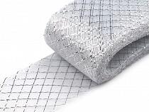 Modistická krinolína na vyztužení šatů a výrobu fascinátorů 7 cm s lurexem