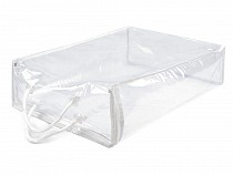 Clear PVC Packaging Zipper Bag 28x37cm