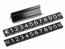 Plastic price tags 7x12 mm