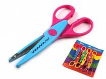 Nůžky dětské délka 13 cm sada 6 ks na blistru