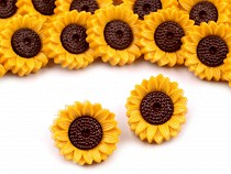 Plastic Flower Buttons for children´s clothing, size 15