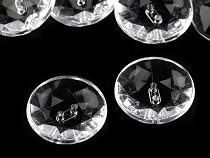 """Knoflík Crystal průhledný velikost 40"""""""