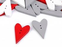Dekorációs fagomb szív
