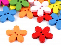 Drevený dekoračný gombík kvet