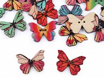 Decorative Wooden Button Butterfly