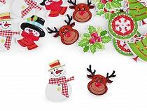 Holzknopf dekorativ - Weihnachten