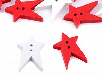Holzknopf dekorativ Stern groß