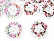 Button with Flowers size 48