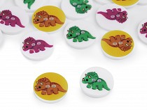 "Kinderknopf Größe 24"" Dinosaurier"