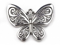Pendant Charm BUTTERFLY 50x56mm