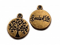 Charm Pendant Tree of Life Ø12 mm disc