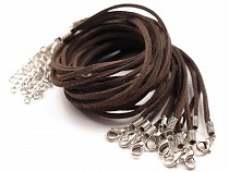 Imitation Leather Necklace Cord with Extension Chain & Clasp 0.3x45 cm