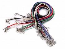 Halskette gewachste mit Karabiner Länge 45 cm