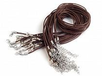 Sznurek bawełniany woskowany z karabińczykiem długość 45cm