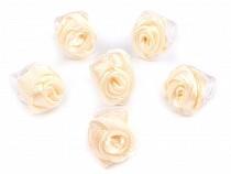 Csiptetős hajcsat kis rózsával 10x13-15 mm ELIS