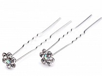 Rhinestone Studded Hair Pin length Ø6 mm