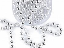 Perlový vánoční řetěz Ø6 mm